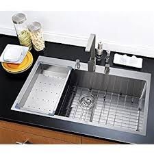 36 x 22 top mount single bowl kitchen sink drop in 304 stainless