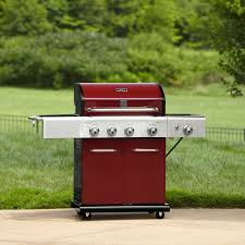 Backyard Gas Grill Reviews by Kenmore 4 Burner Lp Red Gas Grill W Searing Burner U0026 Side Burner