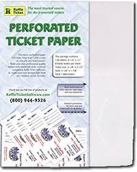 raffle ticket printing paper amazon com perforated ticket paper white 24lb bond printer