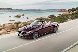 2018 mercedes benz e class cabriolet front three quarter in motion