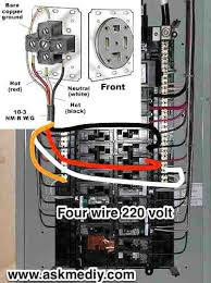 electric stove wiring four wire outlet from panel electric stove