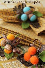 Diy Thanksgiving Napkin Rings Autumn Acorn Napkin Rings Inspired