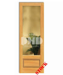 Exterior Pine Doors 1 Lite Clear Glass Bottom Panel 3 4 Pine 8 0 96 Door