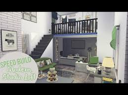 Loft Modern Modern Studio Loft The Sims 4 Speed Build Youtube