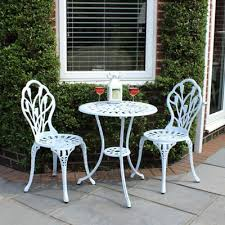 Tesco Bistro Chairs Buy Charles Bentley Cast Aluminium White Tulip Bistro Set From Our