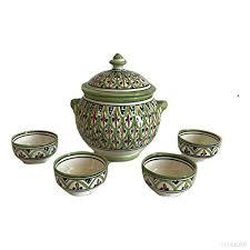 cuisine 4 arabe soupière 4 tasses céramique terre cuite marocaine soupe fondue