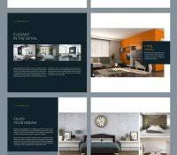 portfolio layout design architecture template indesign free report