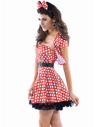 Spandex Halloween Costumes Women U0027s Short Dress Red Minnie Mouse Acrylic Spandex Halloween