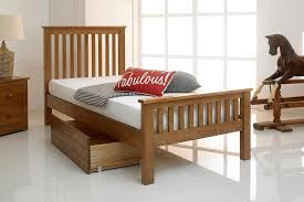 4ft Bed Frame Newport Rustic Brown Solid Oak Bed Frame 4ft Small