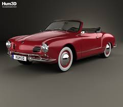 karmann ghia volkswagen karmann ghia convertible 1958 3d model hum3d