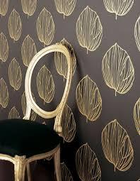 modern wallpaper bold black u0026 gold leaves medallion print