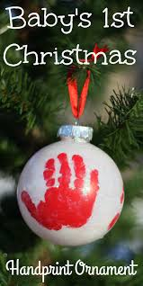 christmas ornaments for baby handprint ornament for baby s christmas i can teach my child