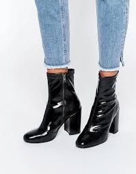 womens boots uk asos steve madden steve madden goldie sock heeled ankle boots