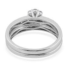 bridal ring sets canada iliana 18k white gold 0 50 carat diamond bridal ring set igi