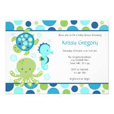 the sea baby shower invitations personalized the sea invitations custominvitations4u