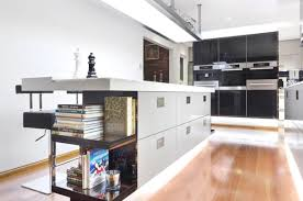 sleek kitchen designs sleek wooden floor bookshelf and storage under marble bar table in