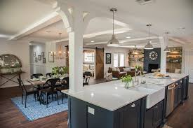 open concept kitchen dining and living room palette pro