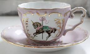 Design Cups by Unicorn Pink And Gold Teacup And Saucer Set Custom Tea Cup