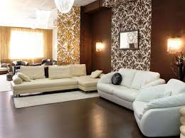 modern living room design ideas in brown and beige accent wall