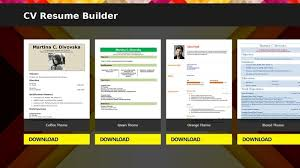Resume Builder Application Resume Builder App Resume Templates