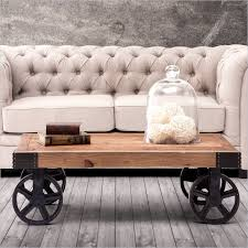 Industrial Cart Coffee Table Industrial Modern Furniture With A Vintage Vibe Barbary Coast