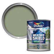 dulux weathershield exterior glade green satin wood u0026 metal paint