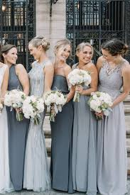 grey bridesmaid dresses mismatched bridesmaids in grey for a city wedding gray