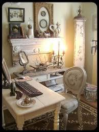 Chic Home Office Desk Best 25 Shabby Chic Office Ideas On Pinterest Framed Burlap