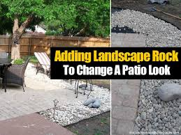 Rock Patio Designs How Simply Adding Landscape Rock Changes A Patio Look