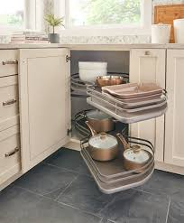 blind corner kitchen cabinet inserts how to make blind corner cabinet space more useful