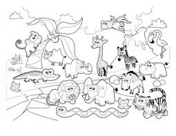 Animals Coloring Worksheets Funnycrafts Forest Animals Coloring Pages