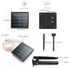 solar led lights for homes solar powered copper wire led string lights 200 led starry