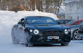 2018 bentley continental gt spied winter testing with little camo
