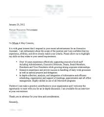 cover letter sample executive assistant cover letter for