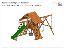 Rainbow Play Systems Rainbow Castle Pkg Ii With Wood Roof 60a