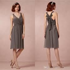 grey bridesmaid dresses slate grey bridesmaid dress v neck soft tulle knee length