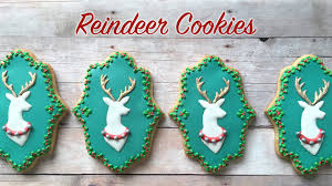 how to decorate reindeer cookies youtube