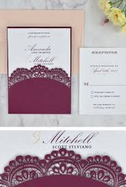 Wedding Invitations And Rsvp Cards Cheap 29 Best Laser Cut Wedding Invitations Images On Pinterest
