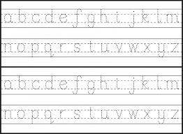 printable tracing letters template for preschool kindergarten