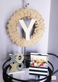 Burlap Home Decor How To Make A Monogrammed Diy Ruffled Burlap Wreath Soiree