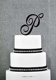 letter wedding cake toppers buythrow initial wedding cake topper letter cake
