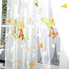 fascinating sheer curtains with yellow flowers u2013 muarju