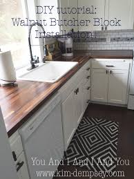 a spoonful of spit up diy wood tutorial on diy walnut butcher block countertops install dark walnut bb from lumber liquidators