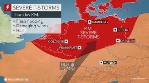 Vilseck Germany Map by Severe Storms To End Days Of Harsh Heat Across Germany