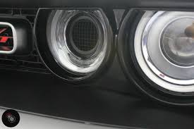 Dodge Challenger Lights - challenger hellcat supercharger intake headlight port grille