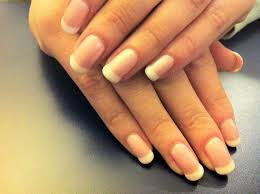 shellac french manicure on short nails motherhood pinterest