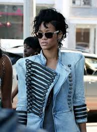 Rihanna in Military Coat