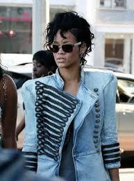 Rihanna in Military Coat