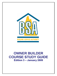 owner builder study guide general contractor business