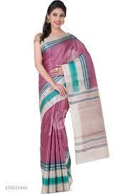 Buy Green Plain Cotton Silk Buy Pink Sarees Online Nalli Com